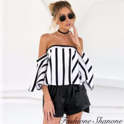 Fashione Shanone - Top rayé encolure Bardot