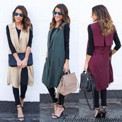 Fashione Shanone - Sleeveless long jacket