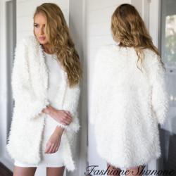 Fashione Shanone - Veste blanche en fourrure
