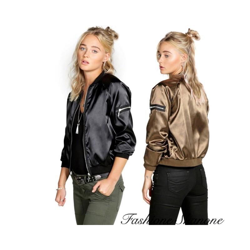 Fashione Shanone - Bomber satiné