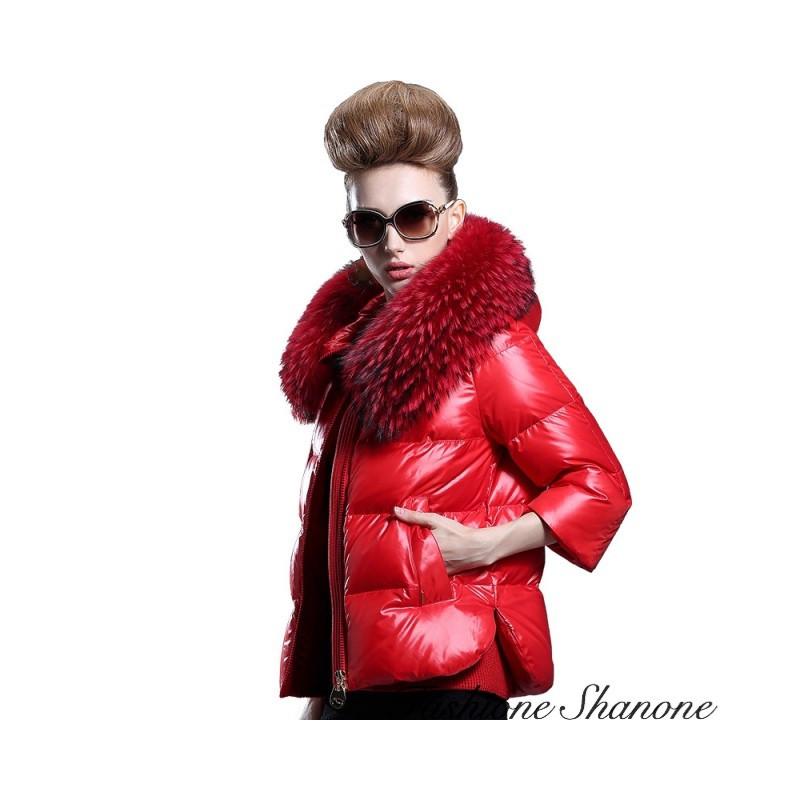 Fashione Shanone - Down coat with hood fur
