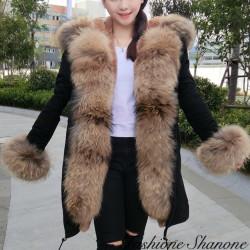 Fashione Shanone - Doudoune longue avec fourrure