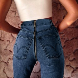 Fashione Shanone - Jeans with zipper at the back