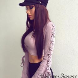 Fashione Shanone - Top court avec manches évasées