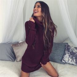 Fashione Shanone - Robe pull col roulé