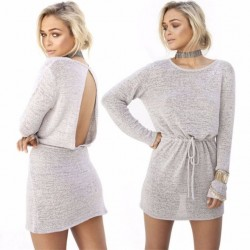 Fashione Shanone - Robe pull avec dos ouvert