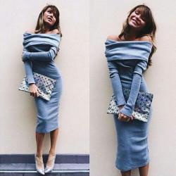 Fashione Shanone - Robe longue à encolure Bardot