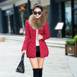 Fashione Shanone - Manteau long avec fourrure au col