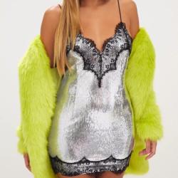 Fashione Shanone - Robe en sequin et dentelle