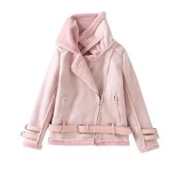 Fashione Shanone - Suede and fur jacket