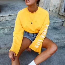 Fashione Shanone - Sweat jaune évasé