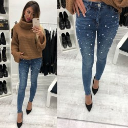 Fashione Shanone - Jeans with pearls