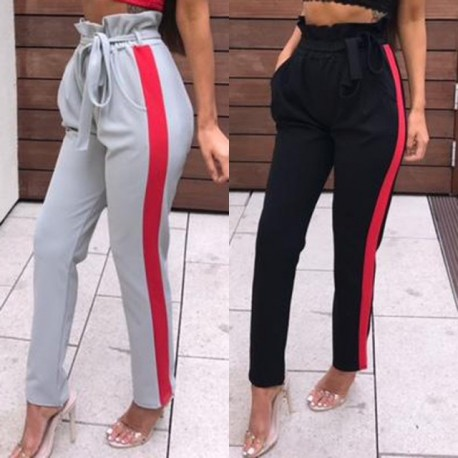 Fashione Shanone - Pantalon bandes rouges