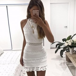 Fashione Shanone - Robe blanche en dentelle