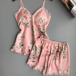 Fashione Shanone - Pyjama en satin fleuri