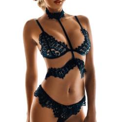 Fashione Shanone - Ensemble de lingerie en dentelle avec ras du cou