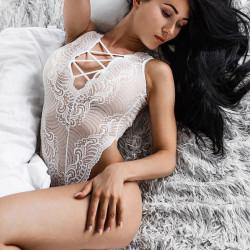 Fashione Shanone - Body blanc à lacet