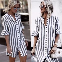 Fashione Shanone - Robe chemise rayée