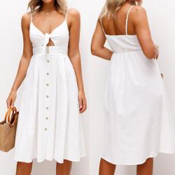Fashione Shanone - Robe blanche trapèze