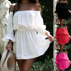 Fashione Shanone - Robe trapèze à encolure Bardot