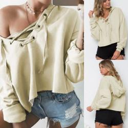 Fashione Shanone - Sweat beige à lacet