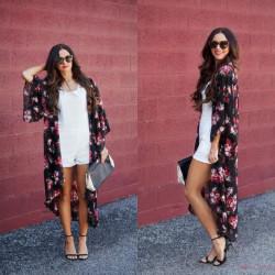 Fashione Shanone - Long floral kimono