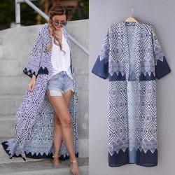 Fashione Shanone - 3/4 sleeves long boho kimono