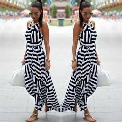 Fashione Shanone - Black and white long dress