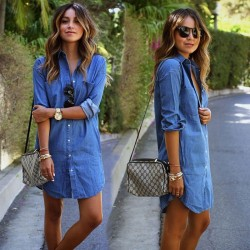 Fashione Shanone - Denim shirt dress