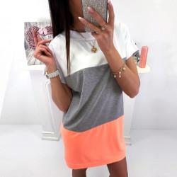 Fashione Shanone - Robe t-shirt tricolore