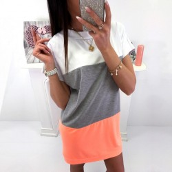 Fashione Shanone - Tricolor t-shirt dress