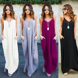 Fashione Shanone - Robe longue casual à poches