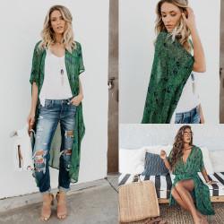 Fashione Shanone - Long kimono vert