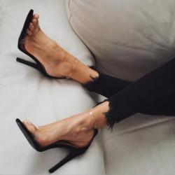 Fashione Shanone - Sandales à lanières transparentes
