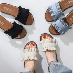 Fashione Shanone - Ruffle flat sandals