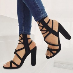 Fashione Shanone - Cross straps heeled sandals