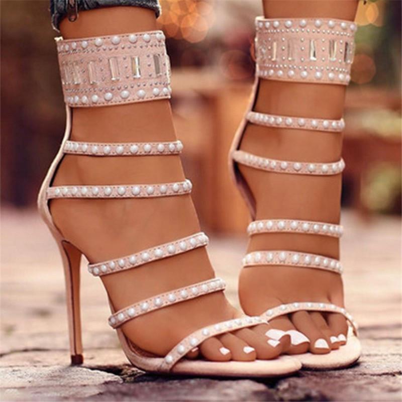 Fashione Shanone - Sandales à talons à perles