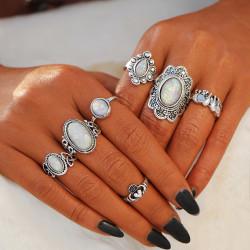 Fashione Shanone - 7 vintage boho rings set