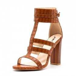 Fashione Shanone - Crocodile heeled sandals