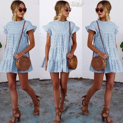 Fashione Shanone - Gingham trapeze dress