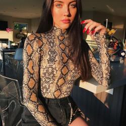 Fashione Shanone - High neck snake bodysuit