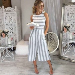 Fashione Shanone - Stripped short jumpsuit