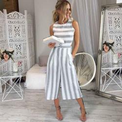 Fashione Shanone - Stripped short jumpsuit