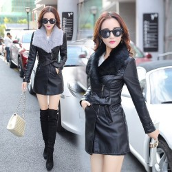 Fashione Shanone - Leather and fur coat