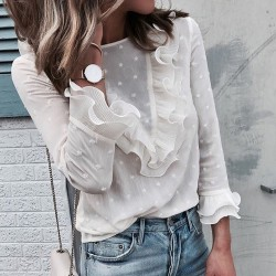 Fashione Shanone - Blouse blanche à volants