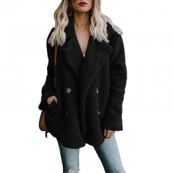 Fashione Shanone - Fur coat with double breasted