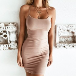Fashione Shanone - Bodycon dress with open back