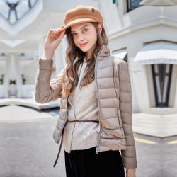 Fashione Shanone - Thin beige down coat