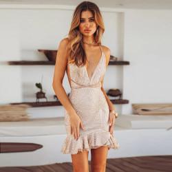 Fashione Shanone - Robe pailletée dos nu