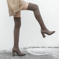Fashione Shanone - Pointed toe over the knee boots